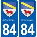 84 La Tour-d'Aigues blason autocollant plaque stickers ville