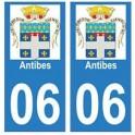 06 Antibes autocollant plaque