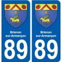 89 Brienon-sur-Armançon blason autocollant plaque stickers ville