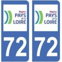 72 Sarthe autocollant plaque