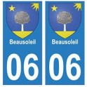 06 Beausoleil ville autocollant plaque