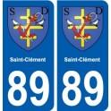89 Saint-Clément coat of arms sticker plate stickers city