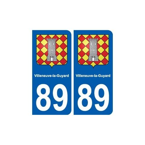 89 Villeneuve-la-Guyard blason autocollant plaque stickers ville