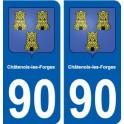90 Châtenois-les-Forges blason autocollant plaque stickers ville