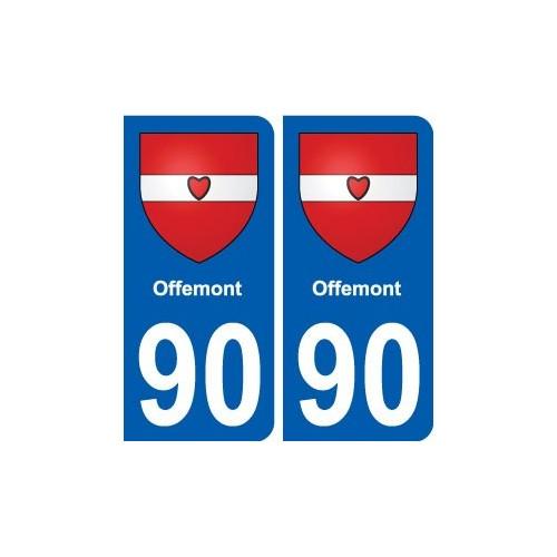 90 Offemont blason autocollant plaque stickers ville droits