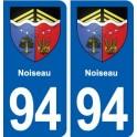 94 Noiseau blason autocollant plaque stickers ville