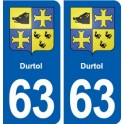63 Durtol coat of arms sticker plate stickers city