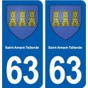 63 Saint-Amant-Tallende coat of arms sticker plate stickers city