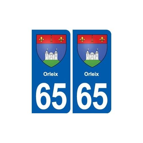 65 Orleix blason autocollant plaque stickers ville droits