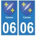 06 Cannes ville autocollant plaque