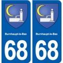 68 Burnhaupt-le-Bas blason autocollant plaque stickers ville