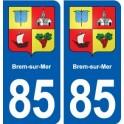 85 Brem-sur-Mer blason autocollant plaque stickers ville
