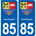 85 Commequiers blason autocollant plaque stickers ville