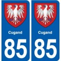 85 Cugand coat of arms sticker plate stickers city