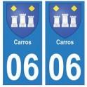 06 Carros ville autocollant plaque