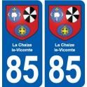 85 La Chaize-le-Vicomte blason autocollant plaque stickers ville
