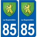 85 The Guyonniere coat of arms sticker plate stickers city