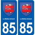85 La Mothe-Achard coat of arms sticker plate stickers city
