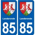 85 Landeronde coat of arms sticker plate stickers city