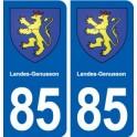 85 Landes-Genusson blason autocollant plaque stickers ville