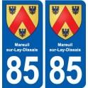 85 Mareuil-sur-Lay-Dissais blason autocollant plaque stickers ville