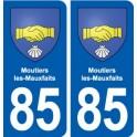 85 Moutiers-les-Mauxfaits blason autocollant plaque stickers ville