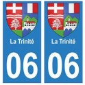 06 La Trinité ville autocollant plaque