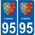 95 Frépillon blason autocollant plaque stickers ville