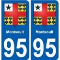 95 Montsoult blason autocollant plaque stickers ville