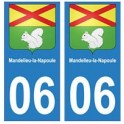 06 Mandelieu-la-Napoule autocollant plaque