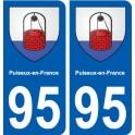 95 Puiseux-en-France blason autocollant plaque stickers ville