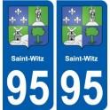 95 Saint-Witz emblem sticker plate stickers city