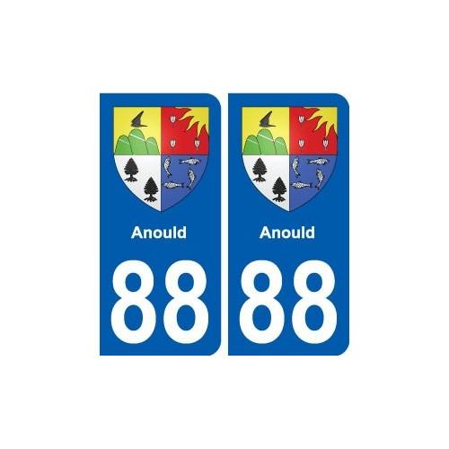 88 Anould blason autocollant plaque stickers ville droits