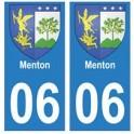 06 Menton autocollant plaque