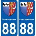 88 Étival-Clairefontaine blason autocollant plaque stickers ville