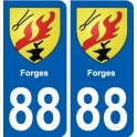 88 Forges coat of arms sticker plate stickers city