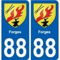 88 Forges blason autocollant plaque stickers ville