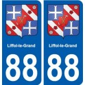 88 Liffol-le-Grand coat of arms sticker plate stickers city
