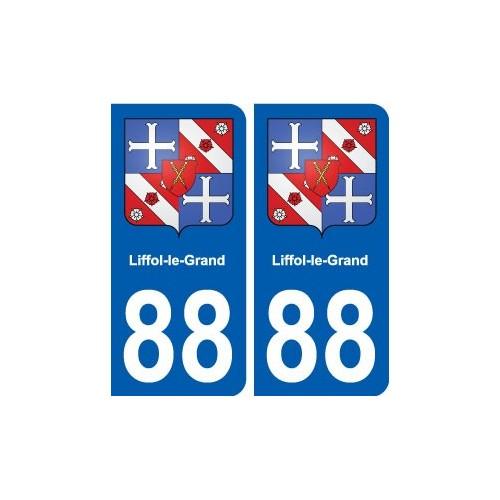 88 Liffol-le-Grand blason autocollant plaque stickers ville droits