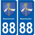 88 Moyenmoutier coat of arms sticker plate stickers city