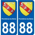 88 Plombieres-les-Bains coat of arms sticker plate stickers city