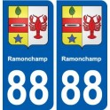 88 Ramonchamp coat of arms sticker plate stickers city