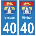 40 Mimizan autocollant plaque blason armoiries stickers département ville