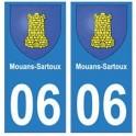 06 Mouans-Sartoux autocollant plaque