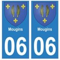 06 Mougins autocollant plaque