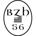 Autocollant 56 BZH drapeau Breton Sticker Breizh Bretagne logo 2