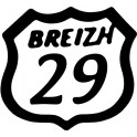 29 Breizh logo sticker adhesive logo, adhesive sticker Britain