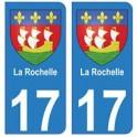 17 The city of la rochelle coat of arms sticker plate registration sticker