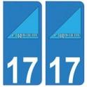 17 The city of la rochelle logo sticker plate registration sticker