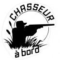 Autocollant chasseur à Bord homme fusil logo sticker